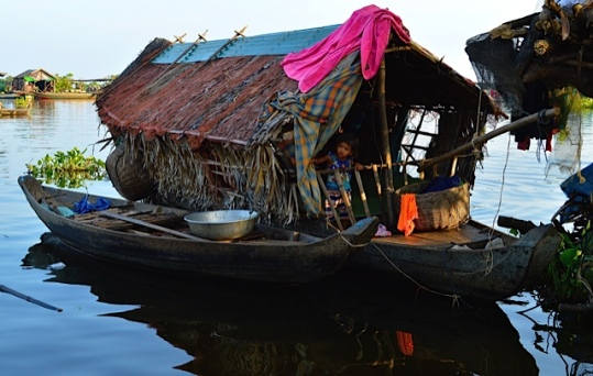 Floating House with Child