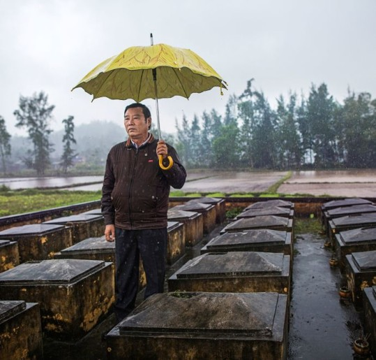 "Pham Thanh Cong, the director of the My Lai Museum, was eleven at the time of the massacre. His mother and four siblings died. ""We forgive, but we do not forget,"" he said.Credit Photograph by Katie Orlinsky  - The New Yorker"